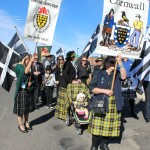 Cornish Australians and Breton Australians prepare march in the street parade in Glen Innes, 4 May, 2013